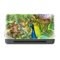 Peacock Digital Painting Memory Card Reader with CF by Simbadda