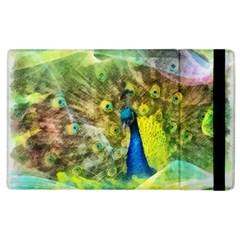 Peacock Digital Painting Apple Ipad 2 Flip Case by Simbadda