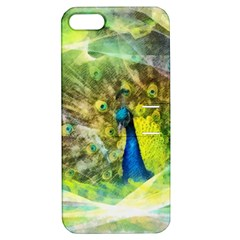 Peacock Digital Painting Apple iPhone 5 Hardshell Case with Stand by Simbadda