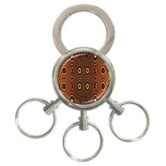Vibrant Pattern 3 Ring Key Chains by Simbadda