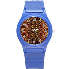 Vibrant Pattern Round Plastic Sport Watch (s) by Simbadda