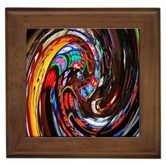Abstract Chinese Inspired Background Framed Tiles by Simbadda