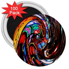 Abstract Chinese Inspired Background 3  Magnets (100 Pack) by Simbadda