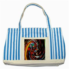 Abstract Chinese Inspired Background Striped Blue Tote Bag by Simbadda