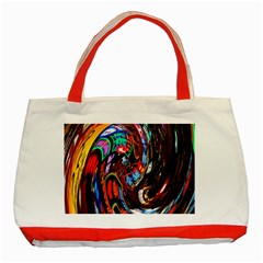 Abstract Chinese Inspired Background Classic Tote Bag (red) by Simbadda