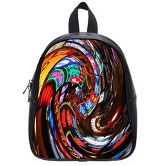 Abstract Chinese Inspired Background School Bags (small)  by Simbadda