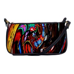 Abstract Chinese Inspired Background Shoulder Clutch Bags by Simbadda