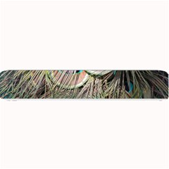 Colorful Peacock Feathers Background Small Bar Mats by Simbadda