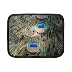 Colorful Peacock Feathers Background Netbook Case (small)  by Simbadda