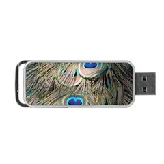 Colorful Peacock Feathers Background Portable Usb Flash (two Sides) by Simbadda