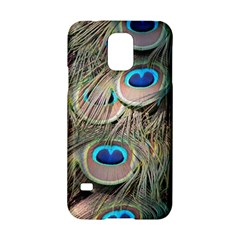 Colorful Peacock Feathers Background Samsung Galaxy S5 Hardshell Case  by Simbadda