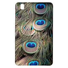 Colorful Peacock Feathers Background Samsung Galaxy Tab Pro 8 4 Hardshell Case by Simbadda