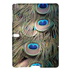 Colorful Peacock Feathers Background Samsung Galaxy Tab S (10 5 ) Hardshell Case  by Simbadda