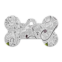 Abstract Pattern Dog Tag Bone (two Sides) by Simbadda