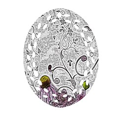 Abstract Pattern Oval Filigree Ornament (two Sides) by Simbadda