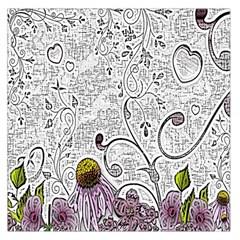 Abstract Pattern Large Satin Scarf (square) by Simbadda