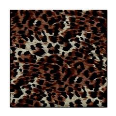 Background Fabric Animal Motifs Tile Coasters by Simbadda