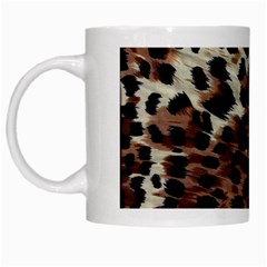 Background Fabric Animal Motifs White Mugs by Simbadda