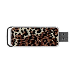 Background Fabric Animal Motifs Portable Usb Flash (two Sides) by Simbadda