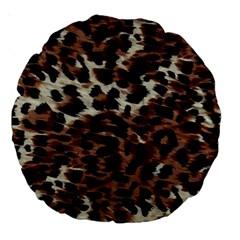 Background Fabric Animal Motifs Large 18  Premium Round Cushions by Simbadda