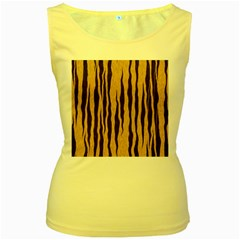 Seamless Fur Pattern Women s Yellow Tank Top by Simbadda