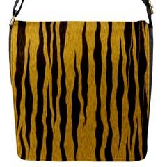 Seamless Fur Pattern Flap Messenger Bag (s) by Simbadda