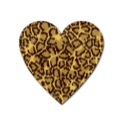 Seamless Animal Fur Pattern Heart Magnet by Simbadda