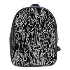 Gray Background Pattern School Bags(large)  by Simbadda