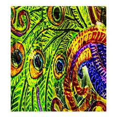 Glass Tile Peacock Feathers Shower Curtain 66  X 72  (large)  by Simbadda