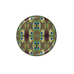 Beautiful Peacock Feathers Seamless Abstract Wallpaper Background Hat Clip Ball Marker by Simbadda