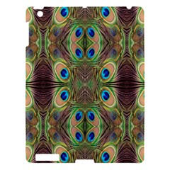 Beautiful Peacock Feathers Seamless Abstract Wallpaper Background Apple Ipad 3/4 Hardshell Case by Simbadda
