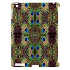 Beautiful Peacock Feathers Seamless Abstract Wallpaper Background Apple Ipad 3/4 Hardshell Case (compatible With Smart Cover) by Simbadda