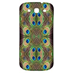 Beautiful Peacock Feathers Seamless Abstract Wallpaper Background Samsung Galaxy S3 S Iii Classic Hardshell Back Case by Simbadda