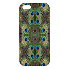 Beautiful Peacock Feathers Seamless Abstract Wallpaper Background Iphone 5s/ Se Premium Hardshell Case by Simbadda