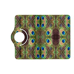 Beautiful Peacock Feathers Seamless Abstract Wallpaper Background Kindle Fire Hd (2013) Flip 360 Case by Simbadda