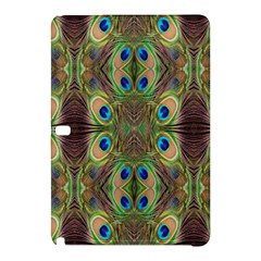 Beautiful Peacock Feathers Seamless Abstract Wallpaper Background Samsung Galaxy Tab Pro 12 2 Hardshell Case by Simbadda