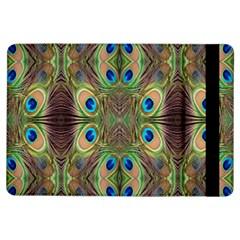 Beautiful Peacock Feathers Seamless Abstract Wallpaper Background Ipad Air Flip by Simbadda
