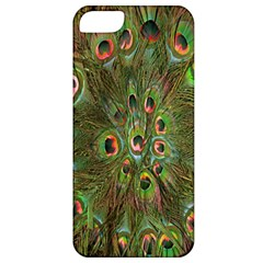Peacock Feathers Green Background Apple Iphone 5 Classic Hardshell Case