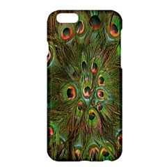 Peacock Feathers Green Background Apple Iphone 6 Plus/6s Plus Hardshell Case by Simbadda