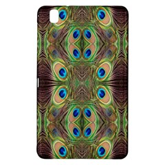 Beautiful Peacock Feathers Seamless Abstract Wallpaper Background Samsung Galaxy Tab Pro 8 4 Hardshell Case by Simbadda