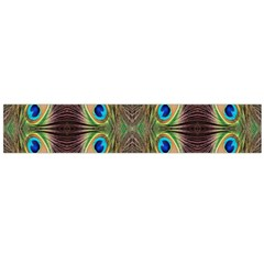 Beautiful Peacock Feathers Seamless Abstract Wallpaper Background Flano Scarf (large) by Simbadda