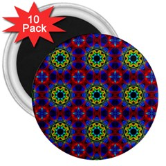 Abstract Pattern Wallpaper 3  Magnets (10 Pack)  by Simbadda