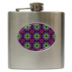 Abstract Pattern Wallpaper Hip Flask (6 Oz) by Simbadda