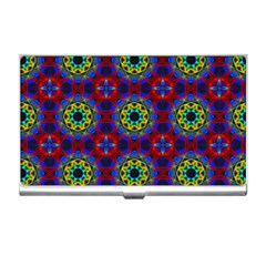 Abstract Pattern Wallpaper Business Card Holders by Simbadda