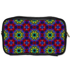 Abstract Pattern Wallpaper Toiletries Bags 2 Side by Simbadda