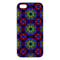 Abstract Pattern Wallpaper Apple Iphone 5 Premium Hardshell Case by Simbadda
