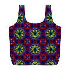 Abstract Pattern Wallpaper Full Print Recycle Bags (l)  by Simbadda