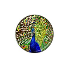 Graphic Painting Of A Peacock Hat Clip Ball Marker by Simbadda