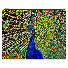 Graphic Painting Of A Peacock Cosmetic Bag (xxxl)  by Simbadda