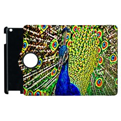 Graphic Painting Of A Peacock Apple Ipad 3/4 Flip 360 Case by Simbadda